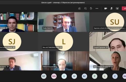 «Содействие правовой государственности в Центральной Азии» провели онлайн тренинг на тему: «Техника составления судебных решений».